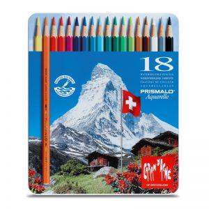 סט עפרונות אקוורל 18 קרנדש -Carandache Prismalo