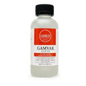 לכה –  Gamblin gamvar varnish Satin