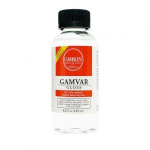 לכה –  Gamblin gamvar varnish Gloss