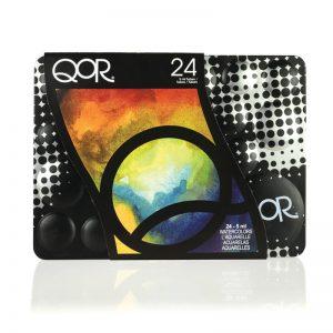 סט צבעי מים אקוורל 24 – GOLDEN QOR