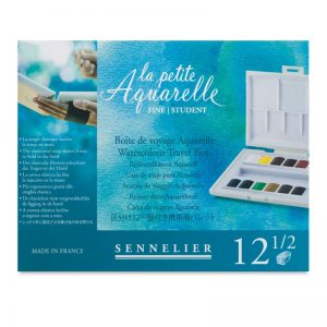 סט צבעי מים אקוורל 12 קוביות Sennelier