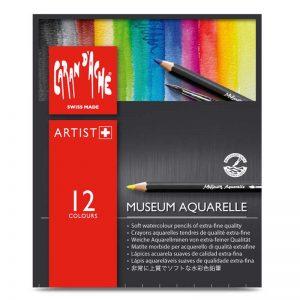 סט עפרונות קרנדש 12 MUSEUM AQUARELLE
