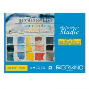 בלוק נייר אקוורל 300 – Fabriano Maxi Blocco Watercolour Studio