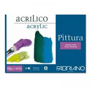 בלוק נייר לצבעי אקריליק – Fabriano Pittura acrylic