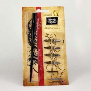 סט 6 ציפורנים + ידית לקליגרפיה – Speedball Calligraphy Set