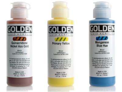 צבע נוזלי - GOLDEN Fluid Colors