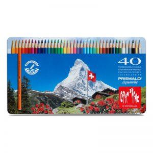 סט עפרונות אקוורל 40 קרנדש -Carandache Prismalo