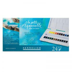 סט צבעי מים אקוורל 24 קוביות Sennelier