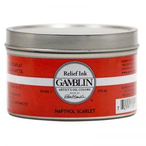 צבע להדפס לינול ותחריט – Gamblin RELIEF INK