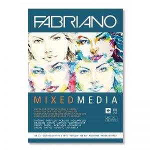 בלוק נייר מיקס מדיה – Fabriano Mixed Media