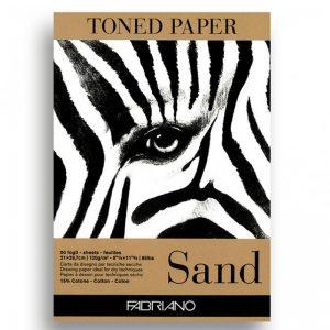 בלוק נייר קראפט חום – Fabriano Toned Paper