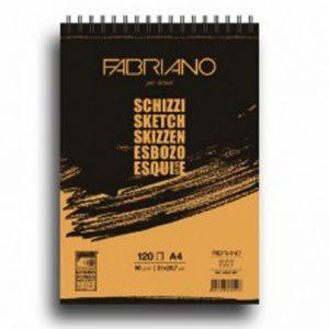 בלוק נייר לרישום קלאסי – Fabriano Schizzi