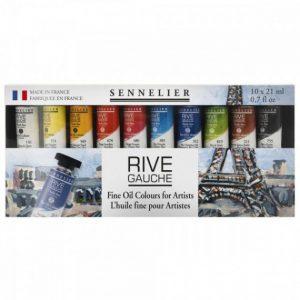 צבע שמן ריווה גאושה סנלייה  Oil colour set Sennelier Rive Gauche