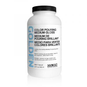גולדן מדיום פורינג מבריק 946 מל – GOLDEN Color Pouring Medium Gloss