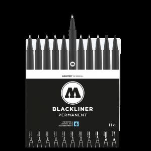 סט רפידוגרף חד פעמי 11 גדלים –  MOLOTOW BLACKLINER