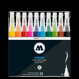 סט מרקר מכחול סופטליינר – Aqua Pump Softliner  MOLOTOW